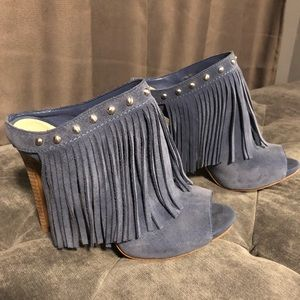 Guess Blue fringe suede very good used condition